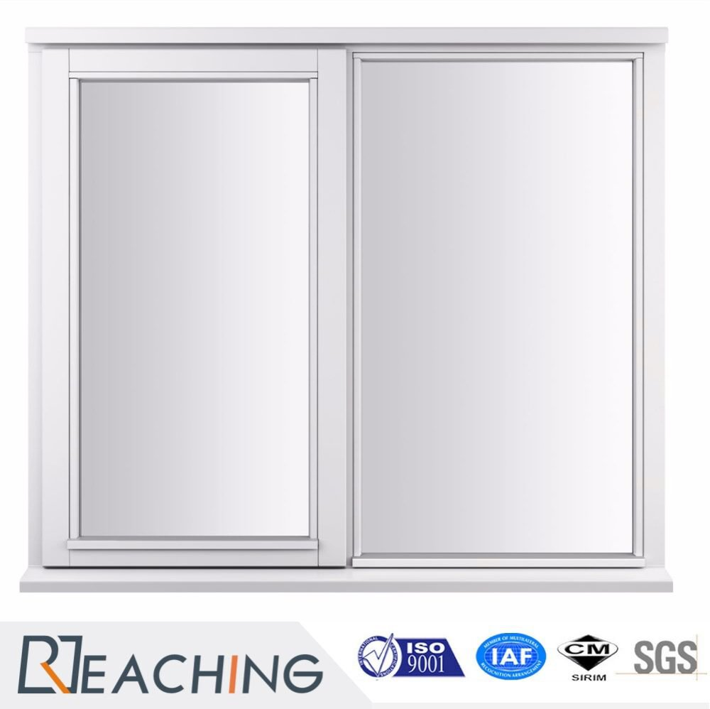 PVC Sliding Glass Window Plastic with Steel Frame Economic Option