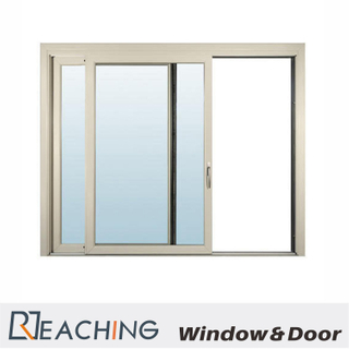 blue Tinted Color Double Low-E Glass Aluminium Window Modern Design