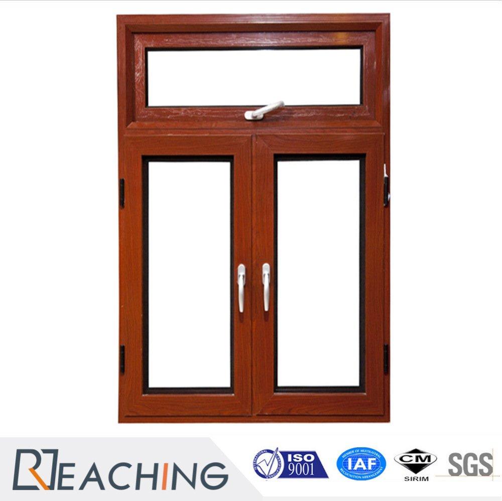 Wood Grain High Sealing Aluminium Casement Window with ...