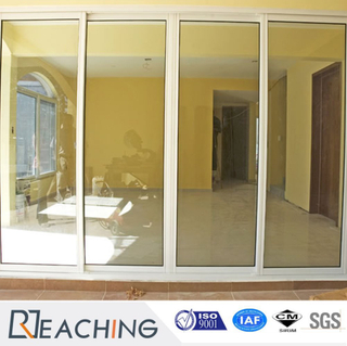 UPVC Gate Sliding Door with Double Clear Glass Anti-Water