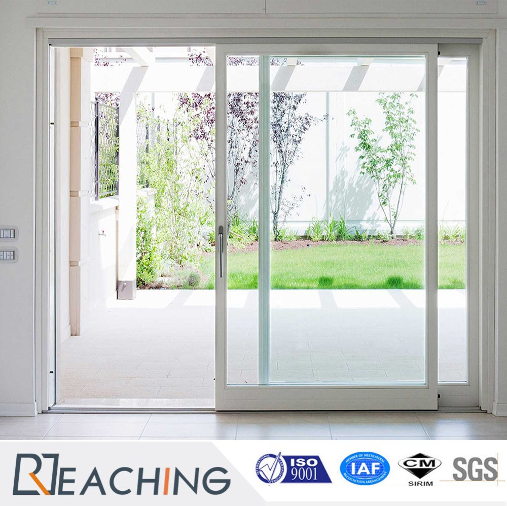 Latest Design UPVC Sliding Door with Good Quality Door Lock