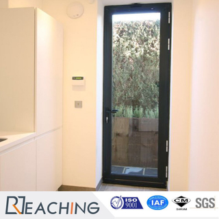 Aluminium Door Grey Color Rust-Proof with Insulating Glass Factory Supply