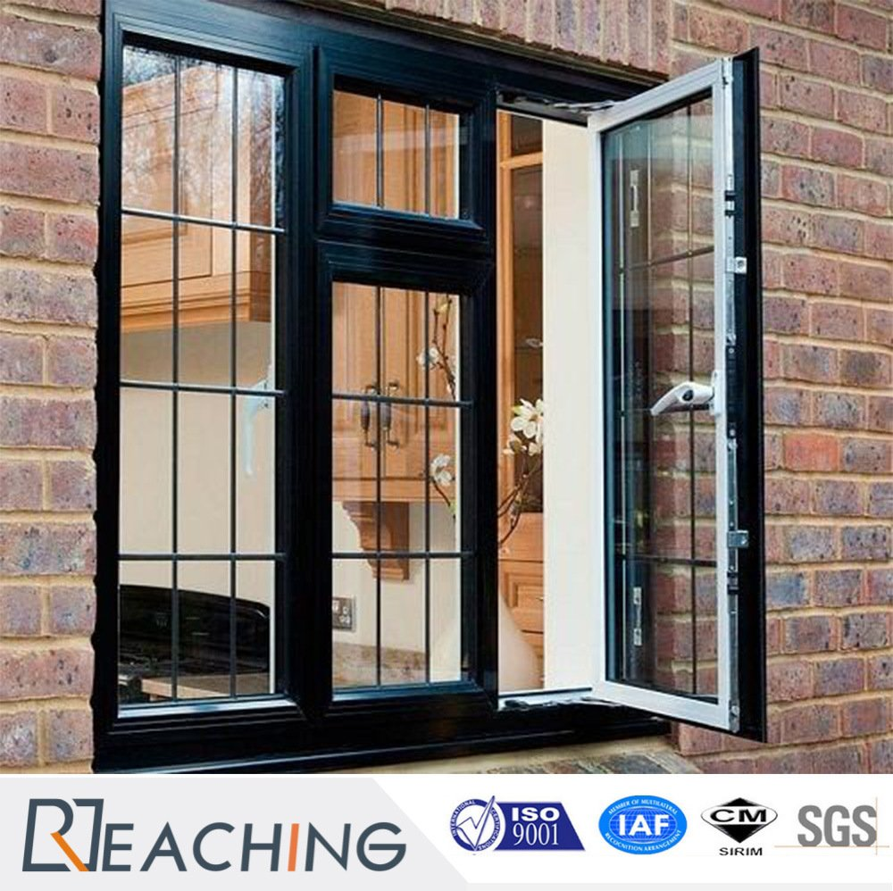 Wood Grain High Sealing Aluminium Casement Window with Cheap Price