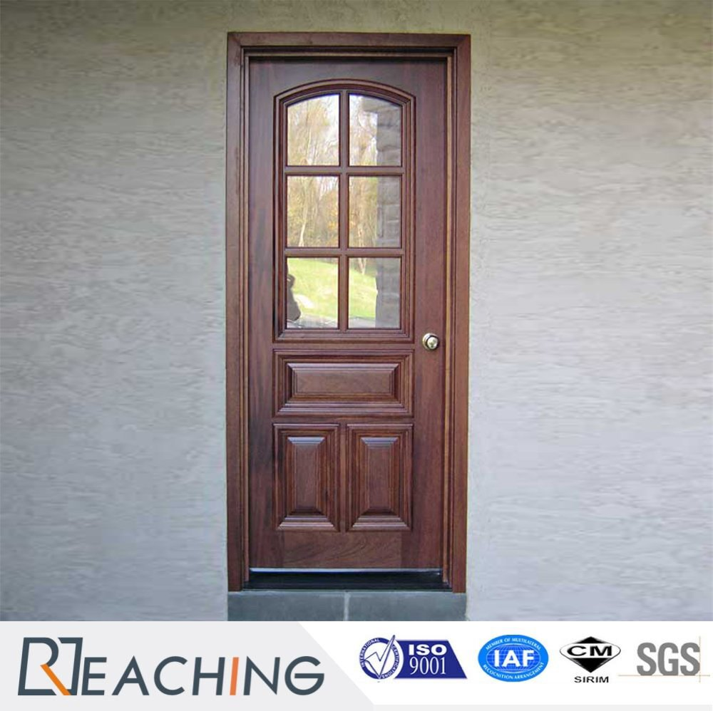 Clic Solid Wood Framework Engrave Door With Grid Gl