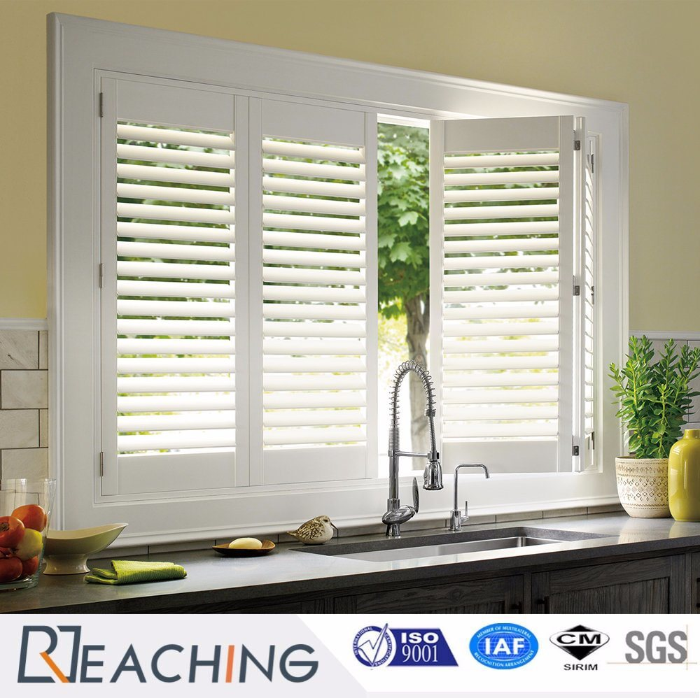 PVC Shutter Window Free Adjust Gap Model Hinged Window for House