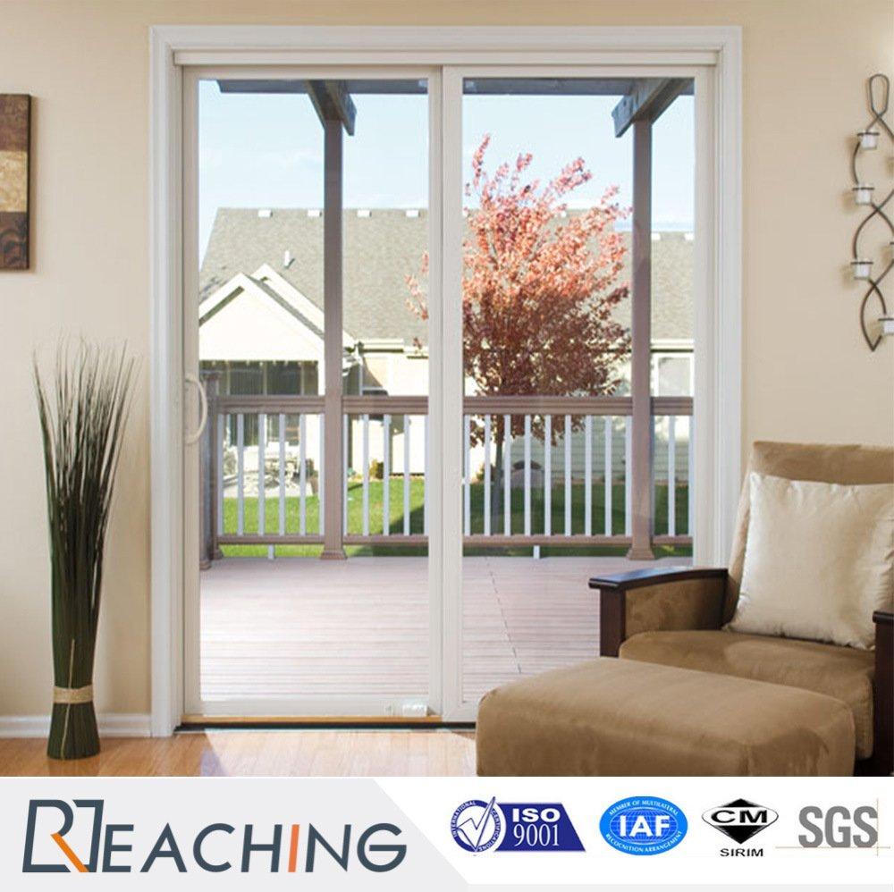 UPVC Sliding Door Grill Design PVC Sliding Doors for Kitchen from