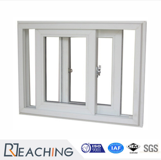 Vertical Sliding Window UPVC Two Panels Horizontal Open Plastic Sliding Window
