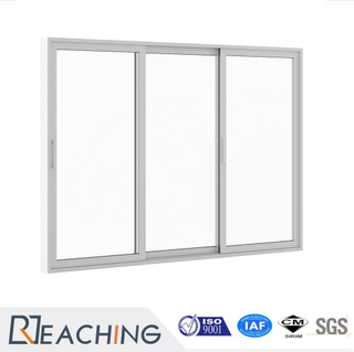 Simplified Design Sliding Door Aluminium Frame with Clear Glass High Transmittance