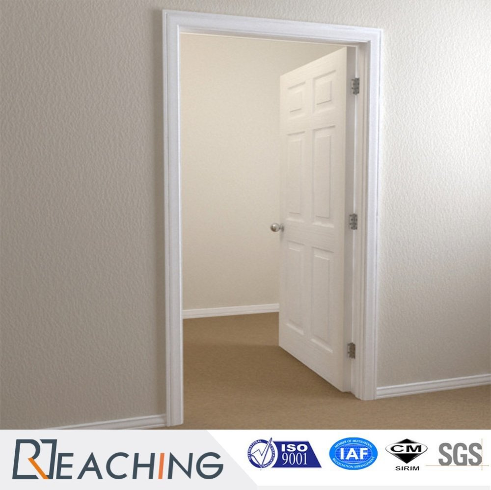 White Paniting Interior Wooden Door Composite Panel Carved Elegant Design
