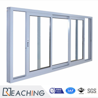 Double Glazing Silver Grey Color Aluminum Sliding Window for Home