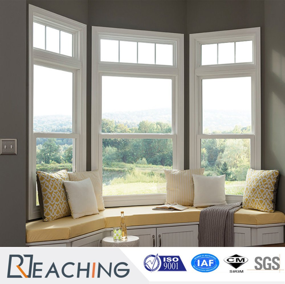 Superior Performance Vinyl UPVC Hung Windows in Bay Shape