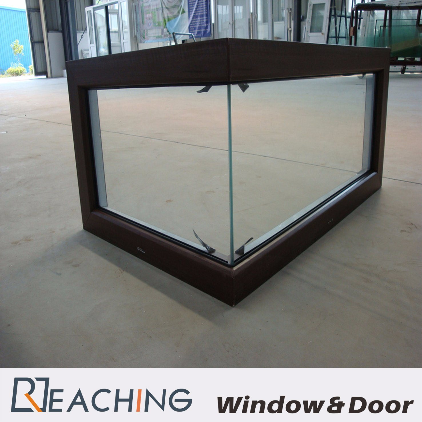 Right Angle Fixed Cornor Glass Aluminium Window Buildin Material for Order