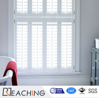 Elegant Finish UPVC White Anti-Maturing Shutter Window Inside
