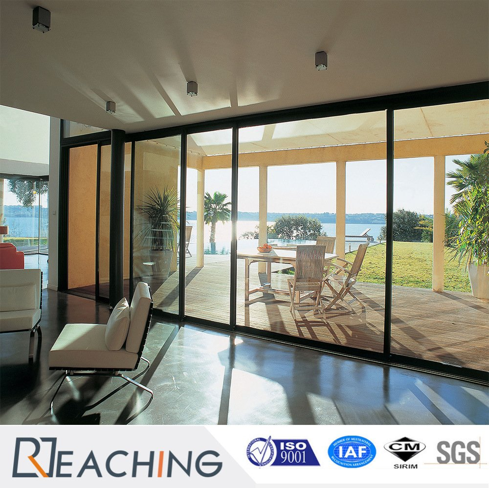 Anodized Aluminium Toughened Big Size Glass Sliding Door